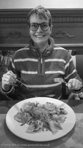 Annie Wilcox Eating Pierogi Dumplings