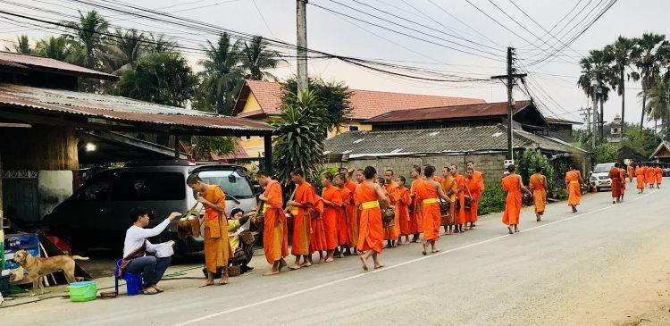 Buddhist Alms Giving Ceremony