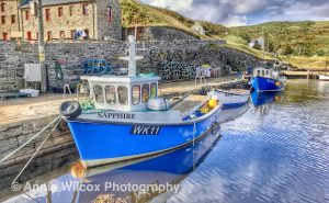 boats in Lybster Harbour