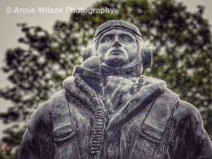 airman memorial statue at Spitfire & Hurricane Memorial Museum