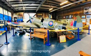 spitfire aeroplane in Spitfire & Hurricane Memorial Museum
