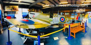 spitfire aeroplane at Spitfire & Hurricane Memorial Museum