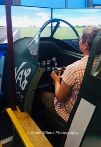 Annie Wilcox flying at the The Manston Spitfire Experience